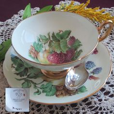Taylor and Kent 7122 Bone China Tea Cup and Saucer - Made in England by LauriesFineChina on Etsy