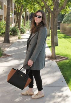 Styling a grey coat