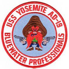 "USS Yosemite Navy Patch | USS Yosemite AD-19 ""Bluewater Professionals"" Patch"