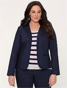 dd502be5a384d Lane Bryant Double Weave Stretch Jacket Blazer Dark Blue Size 16  1024   LaneBryant