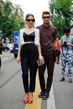 Frol Burimskiy and Ulyana Sergeenko in Milan.  frol burimskiy | Tumblr