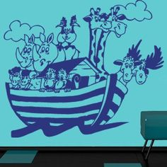 "Style and Apply Noah's Ark Wall Decal Size: 24"" H x 31"" W, Color: Beige"
