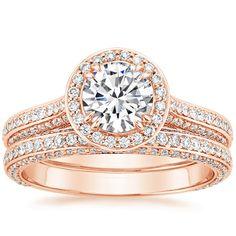rose gold + tons of diamond detailing