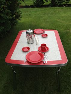 Restored 50S Laminex Formica Retro Kitchen Table Chairs Dressers