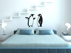 Penguins Wall Decal by Wallistickers on Etsy, $23.00