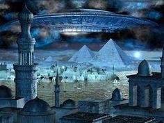 Lemuria and Atlantis Ufo, Drunvalo Melchizedek, Bomba Nuclear, Atlantis, Aliens, Fantasy Art, Taj Mahal, Empire, World