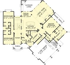 The Stone Gap Cottage House Plans First Floor Plan - House Plans by Designs Direct. Nice floor plan