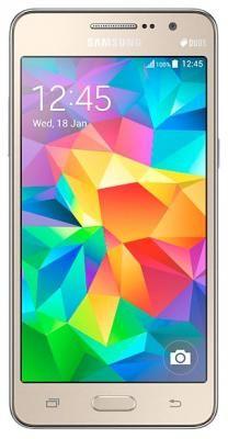 "Смартфон Samsung Galaxy Grand Prime VE G531H Gold  — 9190 руб. —  смартфон, Android 5.1, поддержка двух SIM-карт, экран 5"", разрешение 960x540, камера 8 МП, память 8 Гб, слот для карты памяти, 3G, Wi-Fi, Bluetooth, GPS, ГЛОНАСС, аккумулятор 2600 мАч, вес 156 г, ШxВxТ 72.10x144.80x8.60 мм"