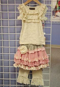 Mustard Pie Pink Kenzington Skirt  Top & Leggings Available Too!