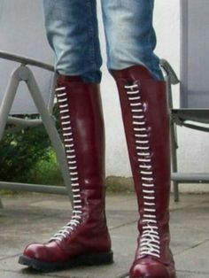 Tall Leather Boots, Tall Boots, Knee High Boots, Leather Men, Laced Boots, Men's Boots, Riding Boots, Skinhead Men, Skinhead Boots