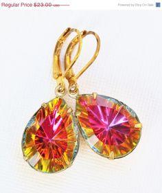 Vintage RARE Volcano Starburst Earrings