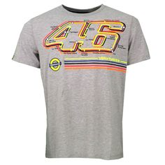 7ce63ac25bc free shipping 2017 Valentino Rossi VR46 Under Racing Moto GP T-shirt Grey  Moto GP