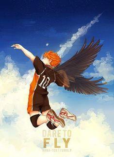Hinata from Haikyuu! Dare to Fly Anime Love, Got Anime, Anime Guys, Manga Haikyuu, Haikyuu Fanart, Hinata Shouyou, Haikyuu Karasuno, Kagehina, Manga Art