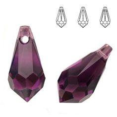 6000 Drop 15x7,5mm Amethyst  Dimensions: 15,0 x 7,5 mm Colour: Amethyst 1 package = 1 piece