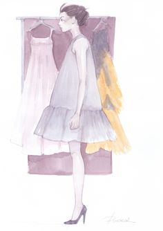 Wearing Dior for the first time. fashion illustration