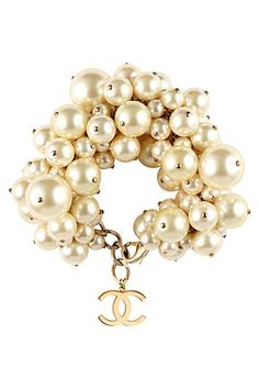 Chanel & clustered pearls. The perfect combination.                                                                                                                                                                                 More