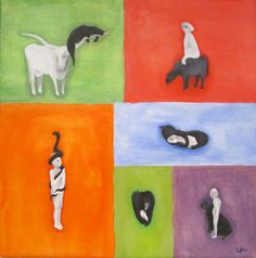 Goshen College: Hannah Sauder, Lion and Lamb Exhibit Goshen College, Lion And Lamb, College Students, Exhibit, Illustration, Creative, Artist, Painting, Illustrations