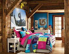 Teenage Girl Bedroom Ideas   Colorful   PBteen