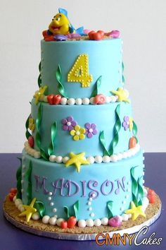 little mermaid birthday cakes - Google Search