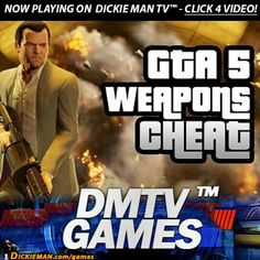 ★GAMES★ GTA V: Infinite ammo and free weapons cheat. http://dickieman.com/games