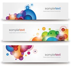 Beautiful Modern Banners Vector Graphic - DryIcons