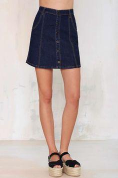 Blank NYC Lies and Alibis Denim Skirt - Skirts