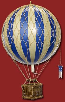 Hot Air Balloon Travels Light Model Victorian Toy in Blue Victorian Toys, Balloon Modelling, Prop Design, Doll Toys, Dolls, Travel Light, Hot Air Balloon, Vintage Toys, Playroom