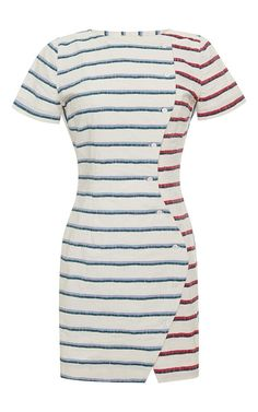 Wavy Striped Placket Dress by Band of Outsiders Now Available on Moda Operandi