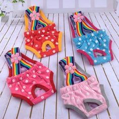 Cute Straps Dog Safety Menstrual Female Dog Shorts Panties Menstruation Pet Dog Diaper Sanitary Physiological Pants P0.21 #Affiliate #DogDiapers