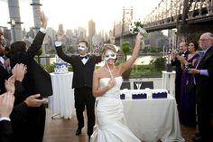 Magical masquerade wedding at Raven Hotel, Long Island NY