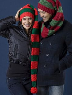 Free Pattern - The scarf hat duo is fun, festive, and above all, warm. Crochet one for yourself, that special someone, and even the kids this holiday season; nothing will top that family photo! #hat #stripes #christmas #winter #holidays