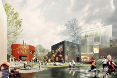 Danish architecture firms COBE and NORD have won the competition for the largest daycare center in all of Denmark.