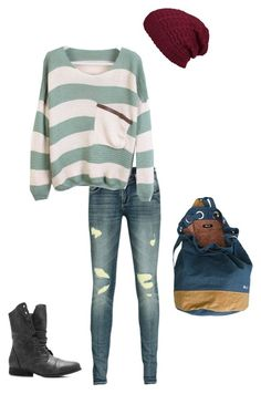 """""""School Outfit for Autumn/Winter"""" by tedelof ❤ liked on Polyvore featuring RVCA, SuperTrash, Pierre Hardy and Agent Ninetynine"""