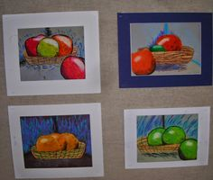 Fine Lines: Stellar Still Life with Vincent Oil pastels, baby oil, chalk pastels and crayon