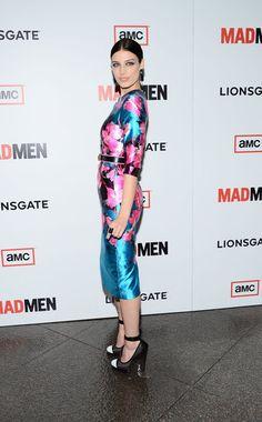 Jessica Paré at the Mad Men season six premiere in Los Angeles.