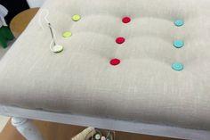 Cómo tapizar una banqueta con moderno capitoné