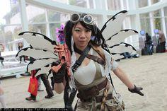 Hanna wearing my Steampunk Wings