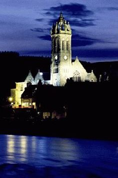 Town Impressions | Royal Burgh of Peebles at night. So beautiful!
