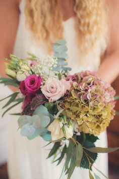 Vintage meets bohemian French wedding bouquet: http://www.stylemepretty.com/destination-weddings/2015/11/23/vintage-boho-inspired-romantic-french-riviera-wedding/ | Photography: AnneClaire Brun - http://anneclairebrun.com/