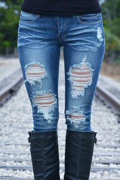 MACHINE Destroyed Skinny Jeans Dark Blue Shop Simply Me Boutique – www.SHOPSIMPLYME.com - #ishopsimplyme – Naples, FL