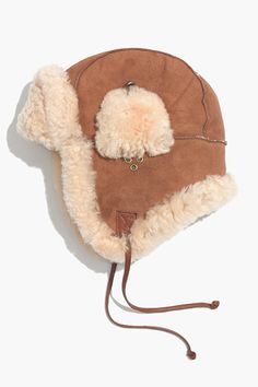 The BEST Winter Accessories For Every Budget #refinery29  Owen Barry Shearling Trapper Hat, $179, available at Madewell.  *OUCH BUT SO CUTE