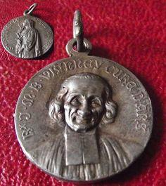 Ancien Médaille religieuse St CURE D ARS , Ste PHILOMENE religious medal antique