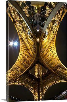 "Another stunning photo by Scott Stulberg ""Beneath the Eiffel Tower at Night"" Wall Art via @greatbigcanvas at GreatBIGCanvas.com."