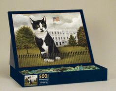 Patriotic Cat (500 Piece Puzzle in an Easel Top Box by Lang)