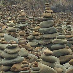 Rock piles-awesome #carisbrookecreek #greatoceanroad #stumbledacrossthem by vickiw05