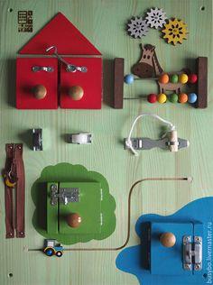Развивающие игрушки ручной работы. Бизиборд БизиФерма. Бизибо. Интернет-магазин Ярмарка Мастеров. Бизиборды, игрушка ручной работы