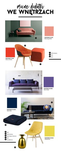 Mocne kolory we wnętrzach Entryway Bench, Pantone, Furniture, Home Decor, Entry Bench, Hall Bench, Decoration Home, Room Decor, Home Furnishings