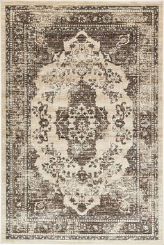 A2Z Rug Beige 6' x 9' FT St. Martin Collection Area rug - Vintage Inspired Overdyed Perfect for Living Dinning Room and Bedroom Rugs, Interior Modern Floor Carpet Design