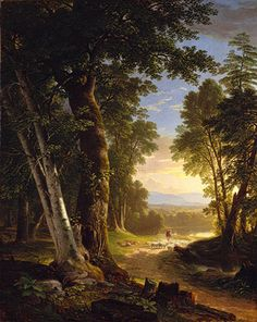 The Beeches - Asher Brown Durand What a beautiful painting! My favorite Hudson River School painter. Landscape Art, Landscape Paintings, Hudson River School Paintings, Beautiful Paintings, Art History, Amazing Art, Illustration, Scenery, Art Gallery