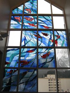 salmon stained glass - Google Search
